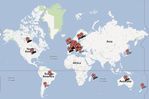 world map of RCbodyShop customers