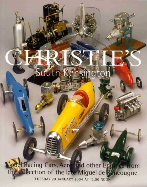 Christies affiche vente Engine Collection of Miguel deRancougne