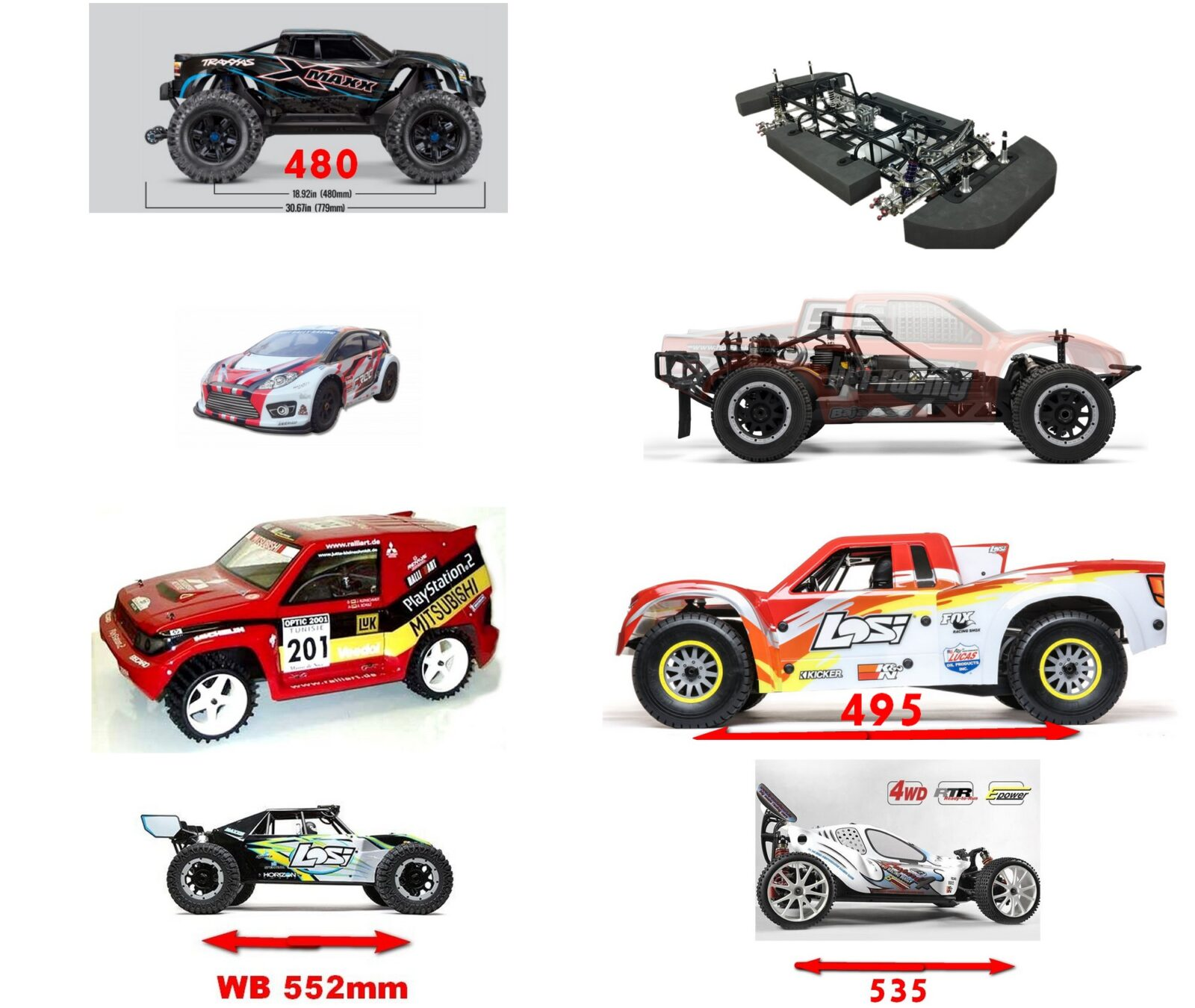 Main big RC Car LIST