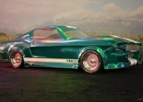 carrosserie 1:5 lexan ford mustang gt500 eleanore pony bullit IQP racing