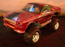 carrosserie 1:5 lexan ford mustang gt500 eleanore pony bullit IQP racing monster truck